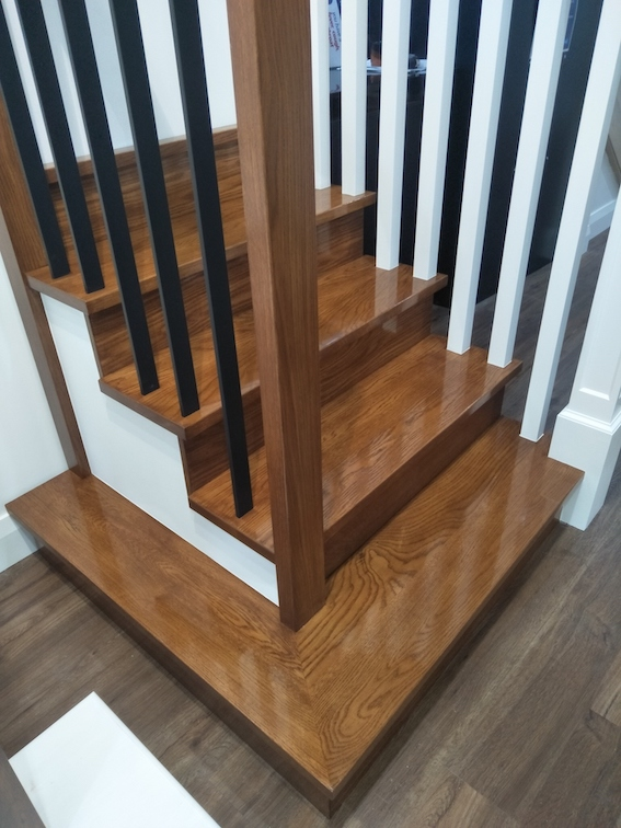 Timber stairs painting